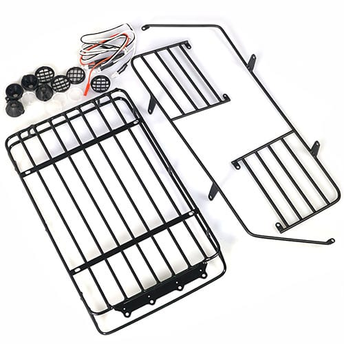 metal roll cage    luggage tray with white led light for jeep wrangler body