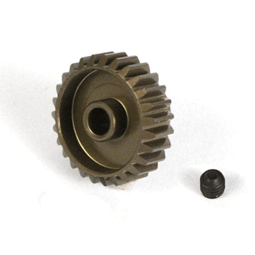 28T hardened aluminium 48dp pinion gear for 1:10 RC 28 tooth 48 pitch