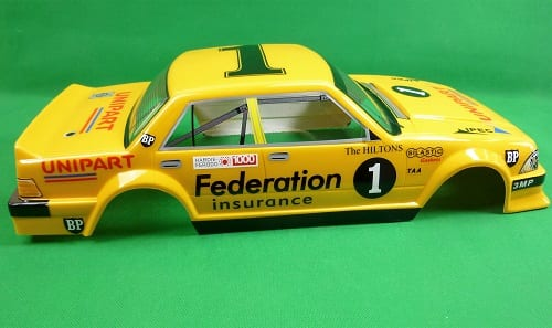 1:10 RC Clear Lexan Body Shell Ford Falcon XD Racing Federation Insurance  Fitzy
