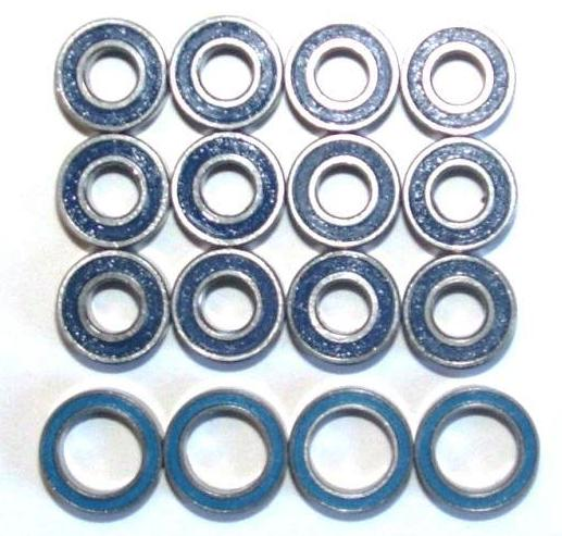 M01 Chassis For Tamiya M-01 Double Metal Rubber Sealed Ball Bearing BLUE