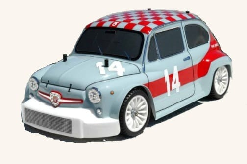 Clear Lexan Body Shell Fiat Arbath To Suit 110 Rc Mini M06 M05 112 Rc Colt on fiat 500 for sale