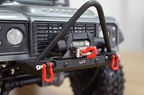 Black Alloy Front Bumper With Led Light For Axial Scx10 Ii